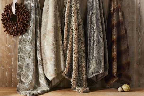 Faux Fur Throws from £70