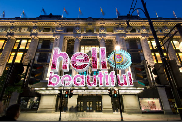 hello beautiful selfridges