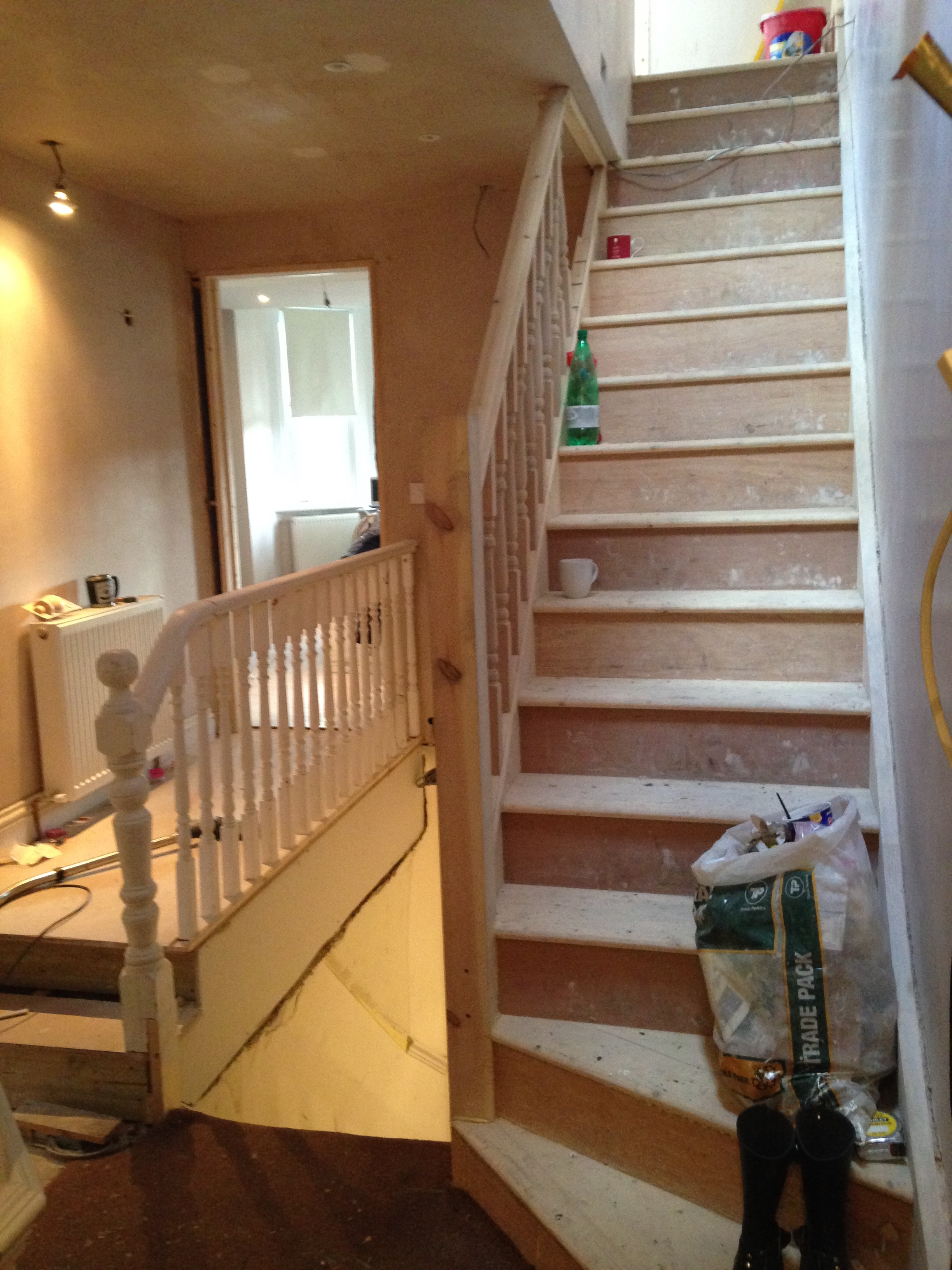 messy staircase