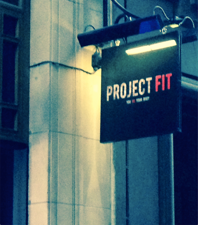 Project Fit sign