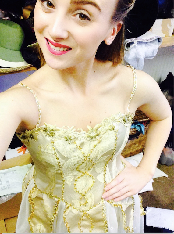 aimee as cinders in gold