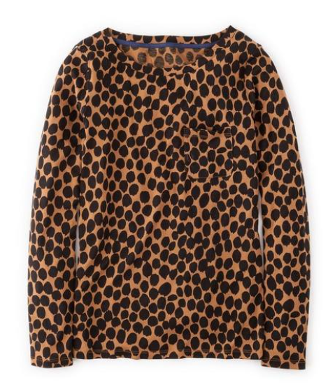 leopard print Boden top