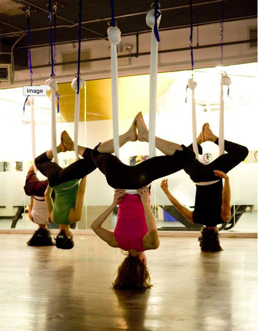 upside down antigravity yoga